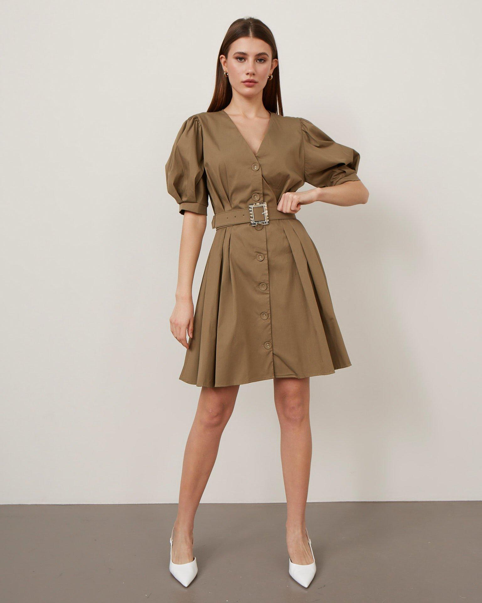 Платье В Стиле Сафари Купить В Москве